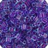 Miyuki square (Cube) 4mm Purple Transparent Fuchsia Lined